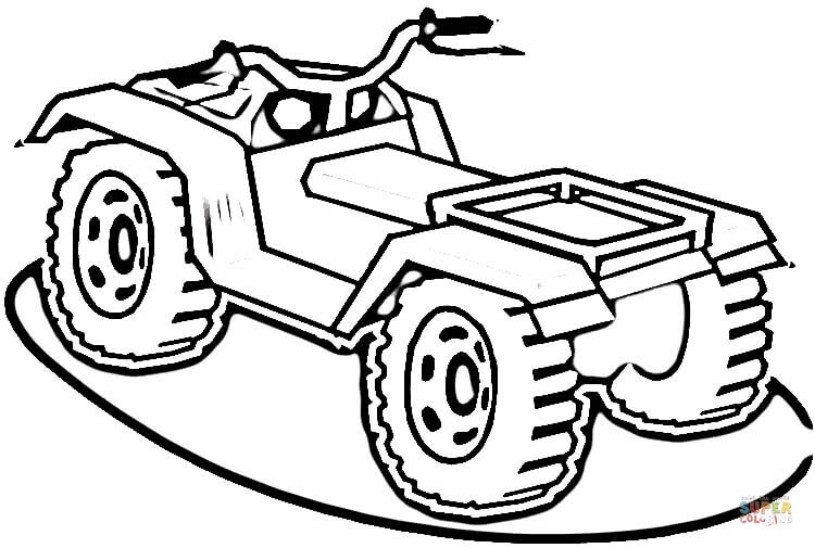 simple 4 wheeler coloring pages coloring pages