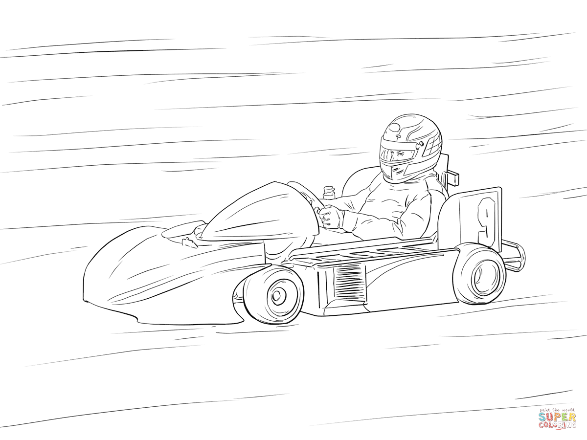 Go Kart Coloring Page