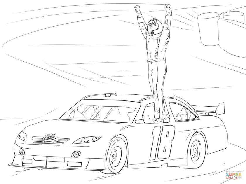nascar kyle busch  free coloring pages