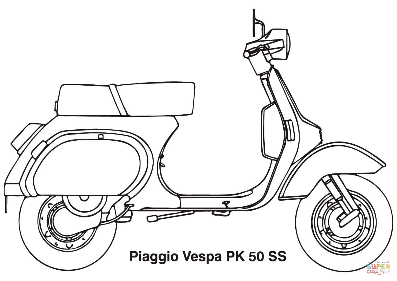 Scooter Pages Coloring Pages