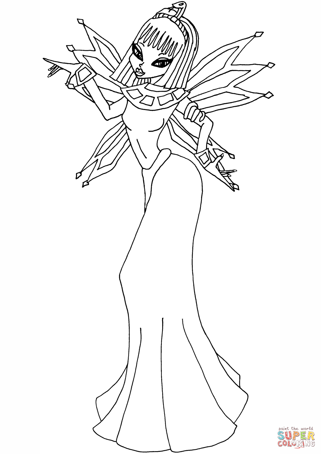 Egyptian Princess Coloring Pages Page Sketch Coloring Page