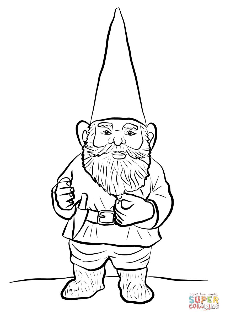 Gnome Coloring Sheets Printable   Novocom.top