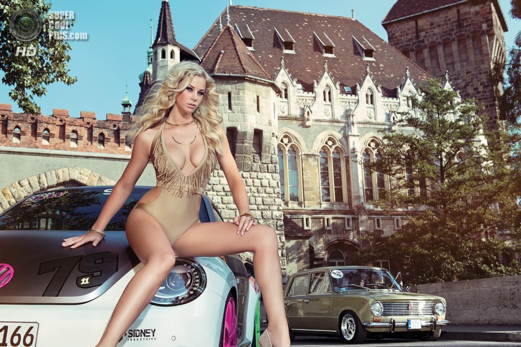 Сентябрь: Volkswagen Beetle, Lada. (2014 Miss Tuning Calendar)