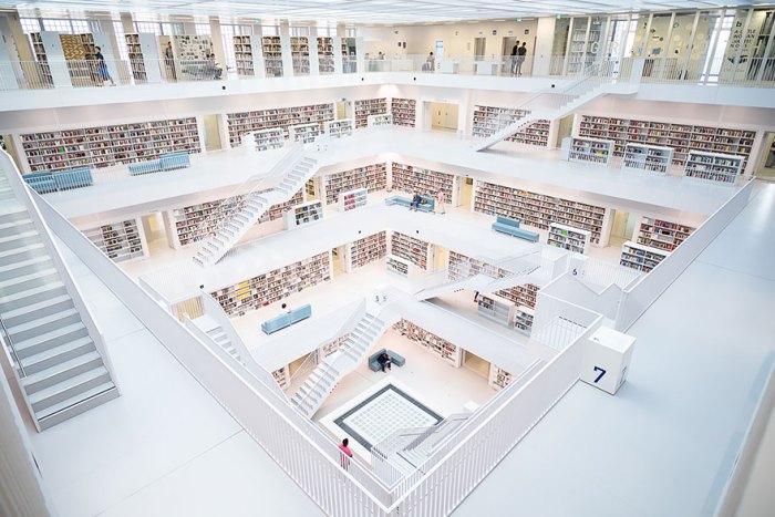 Библиотека в Штутгарте, Германия
