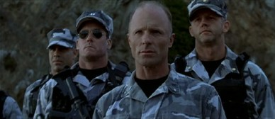 Ed Harris is really good at looking unhappy...