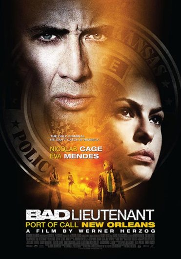 None of these posters clue you in to how much of a trip this movie is. The poster should just be a close up fish-eye lens shot of an Iguana with Nic Cage in the extreme background looking confused.