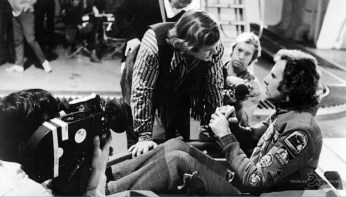 Here we see Douglas Trumbull directing star Bruce Dern on the set of Silent Running.