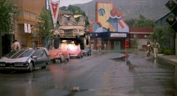 Here you can see the Star Car on the left in a scene from Back to the Future 2.