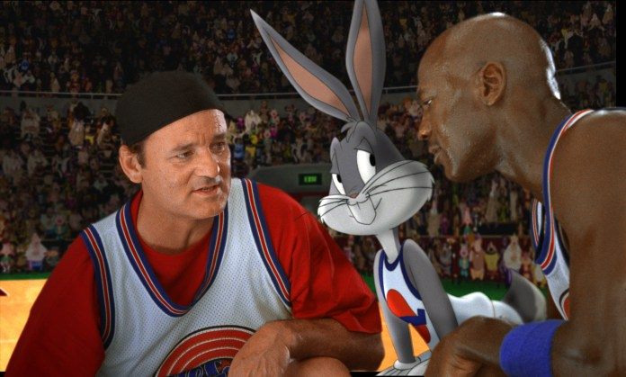 Bill Murray: It's 'cause I'm white, isn't it? Michael Jordan: No. Larry's white, so what? Bill Murray: Larry's not white. Larry's clear.