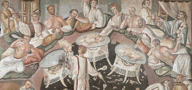 vomitorio, vomitorium no era para vomitar durante los banquetes de la Antigua Romano