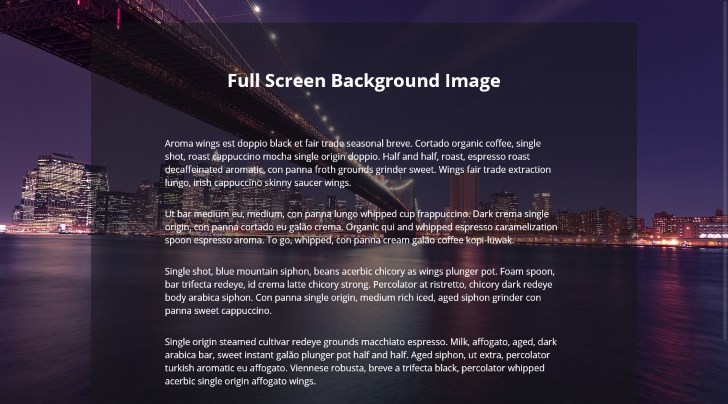 Full Screen Background Image with CSS   Super Dev Resources CSS code for Full Screen background image