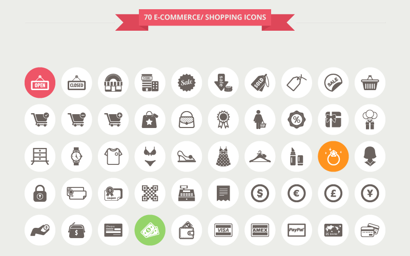 12 Free eCommerce & Shopping Icon Sets - Super Dev Resources
