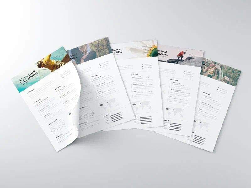 28 Minimal   Creative Resume Templates   PSD  Word   AI  Free     free minimal clean resume template