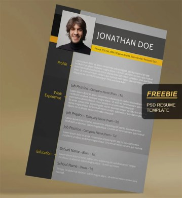 28 Minimal   Creative Resume Templates   PSD  Word   AI  Free     Free Modern CV Template