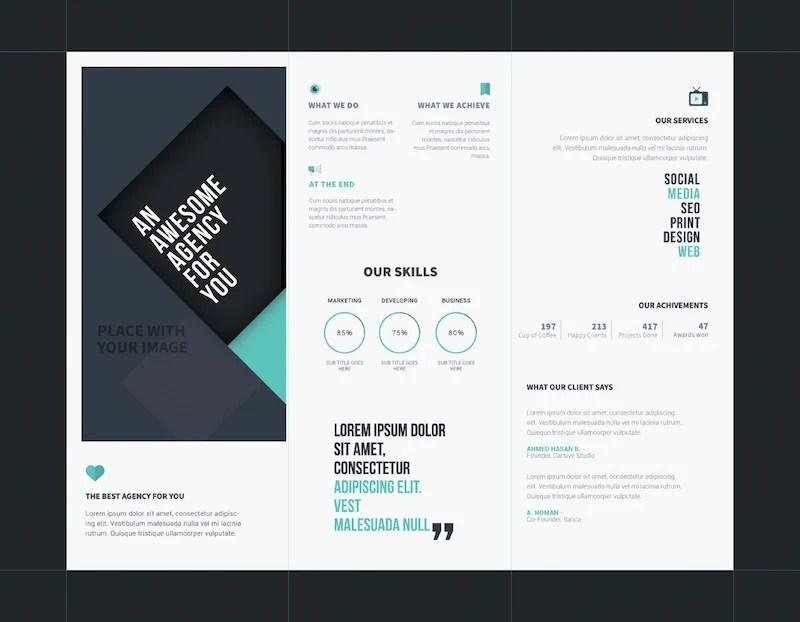 25 Tri Fold Brochure Templates Psd Ai Indd Free