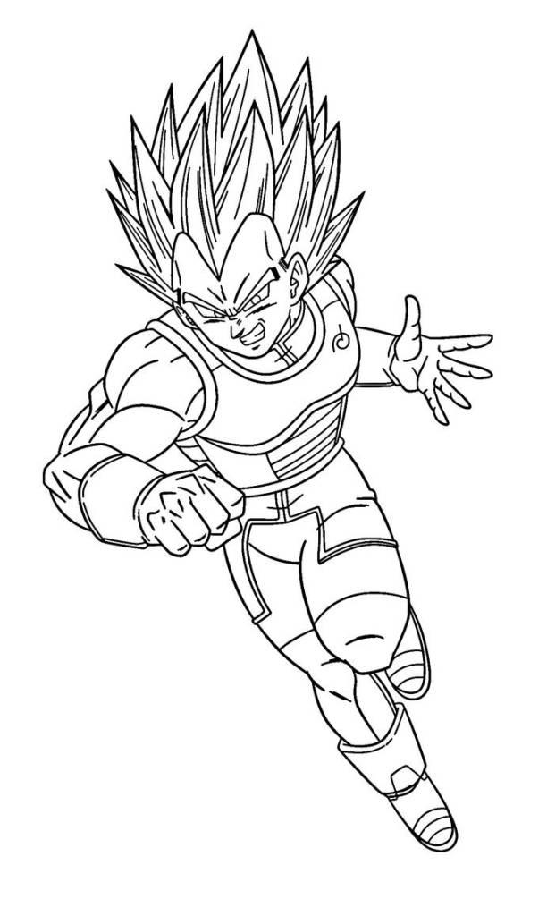 7 imagens de Vegeta para pintar e colorir - Super Dragon Ball
