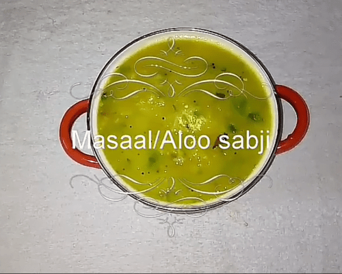 Masaal – Side dish for Chappathi and Puri