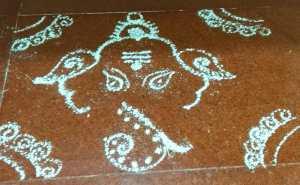Vinayagar Chathurthi_kolam