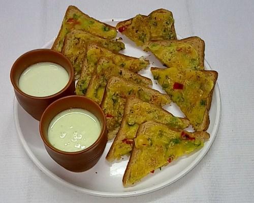 Sooji toast / Rava toast