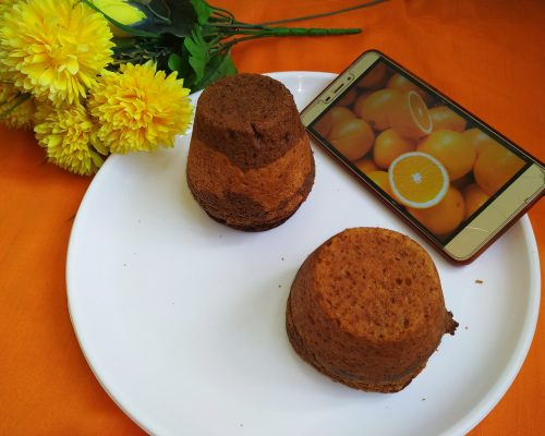 Eggless Whole-Wheat 2 in 1 Orange cake