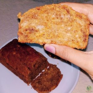 Eggless Whole wheat Banana bread_slice