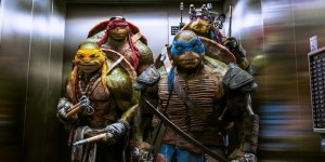 Left to right: Michelangelo, Raphael, Leonardo, and Donatello in TEENAGE MUTANT NINJA TURTLES, from Paramount Pictures and Nickelodeon Movies.