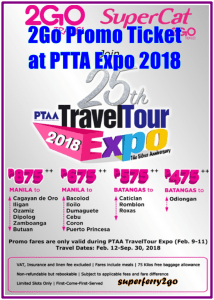 2Go Ticket Promo at PTTA Expo 2018