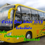 Ceres Bus Cebu to Dumaguete and Bacolod Schedule 2018