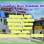 Polambato Roro Schedule: Cebu to Leyte, Samar, Masbate, Sorsogon, Vice Versa