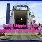 Roble Shipping 2018 Schedule and Fare Rates