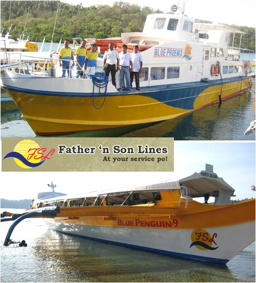 Boat Batangas to Puerto Galera Father and Son Line