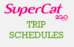 Daily SuperCat Trip Schedules and Departures