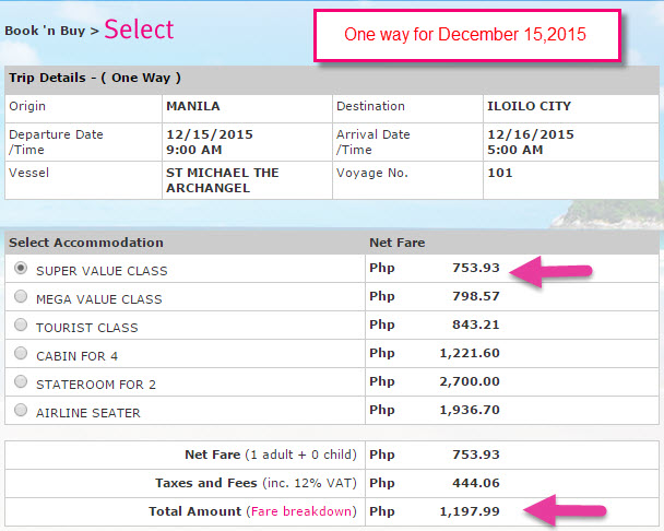 December 2015 Promo Superferry Ticket