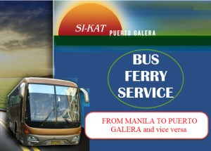 Si-KAT Bus Ferry Schedule, Ticket Prices for MANILA TO PUERTO GALERA vice versa