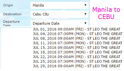 2Go Manila to Cebu JULY 2016