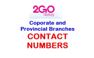 2Go Travel Provincial Contact Numbers