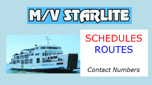 Starlite Ferries Daily Schedules