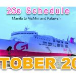 2Go Schedule Trip October 2016