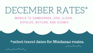 2Go Superferry December Ticket Price Mindanao