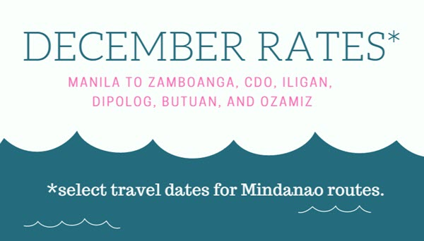 2Go Superferry December Ticket Price Mindanao