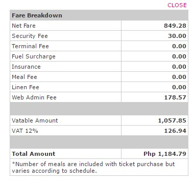 2Go additional charges and fees