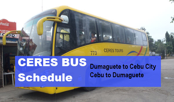 ceres bus schedule dumaguete to cebu