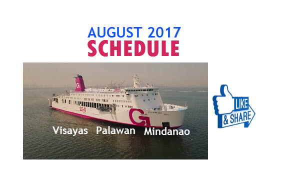 2Go schedules AUGUST 2017