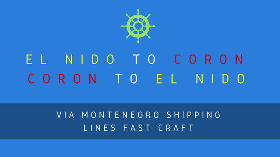 el nido to coron boat fare and schedule