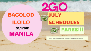 fares and schedules 2go travel bacolod and iloilo to and from manila