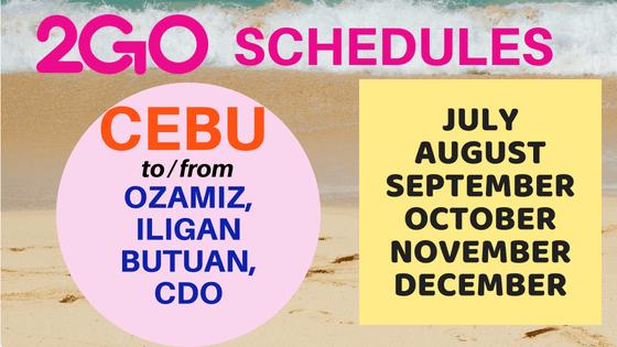 2go schedules cebu to mindanao 2018