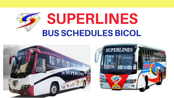 SUPERLINES bus to bicol
