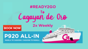 2Go Travel Offers PROMO for Cagayan de Oro Routes