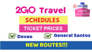 2go davao general Santos ticket price schedules