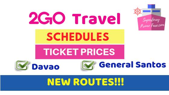 2go davao general Santos ticket price schedules